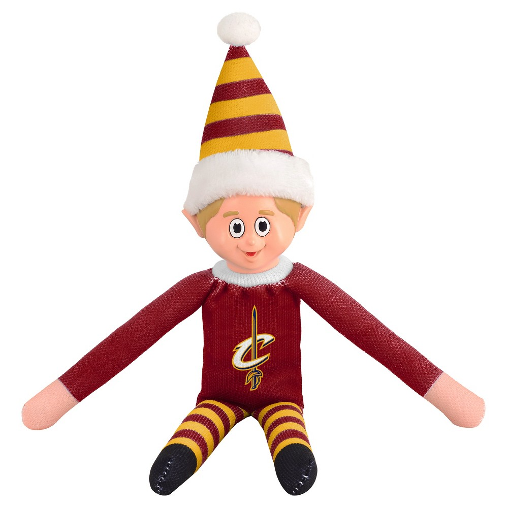 Forever Collectibles Cleveland Cavaliers Holiday Elf Forever Collectibles - NBA Team Elf, Cleveland Cavaliers - This Forever Collectibles Team Elf with provide hours of joy and holiday cheer for all. This officially licensed elf is sporting your favorite team's logo on his sweatshirt and a Santa hat for the season. Start a new tradition this year with your 2015 team elf! Age - 3 and up. Team elf is approximately 14 inches tall.