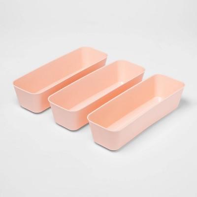 3pk Long Storage Trays Feather Peach - Room Essentials™