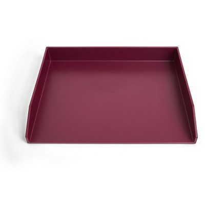 TRU RED Side Load Stackable Plastic Letter Tray, Purple TR55293