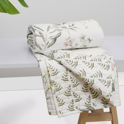 Viviana Floral Quilted Throw - Levtex Home