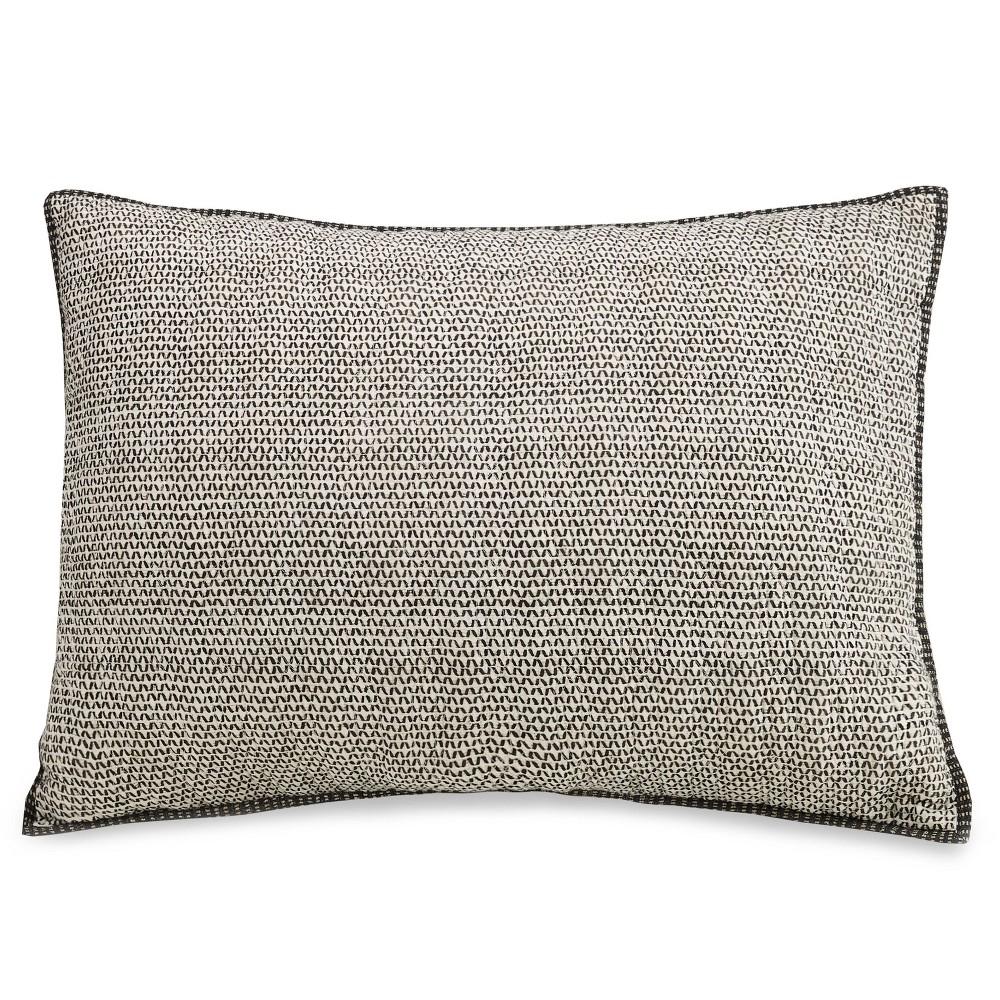 Image of Ayesha Curry Standard Sham Graphite Gray