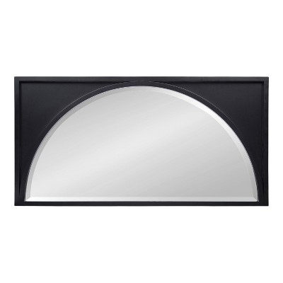 """21.5"""" x 42"""" Andover Arch Wall Mirror Black - Kate & Laurel All Things Decor"""