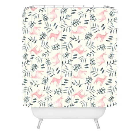 Woodland Shower Curtain White