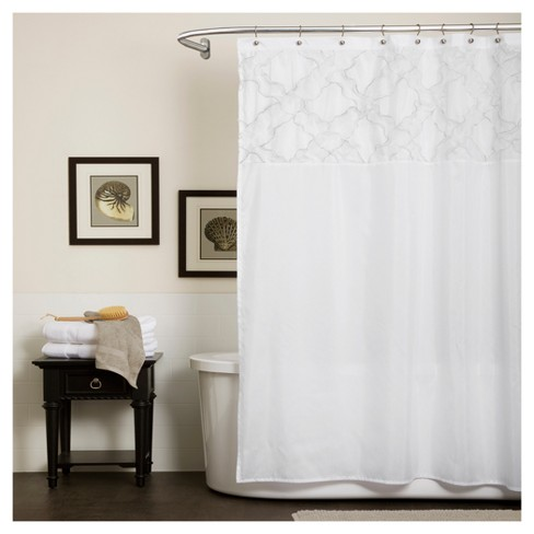 Misty Meadow Shower Curtain White - Lush Decor - image 1 of 1