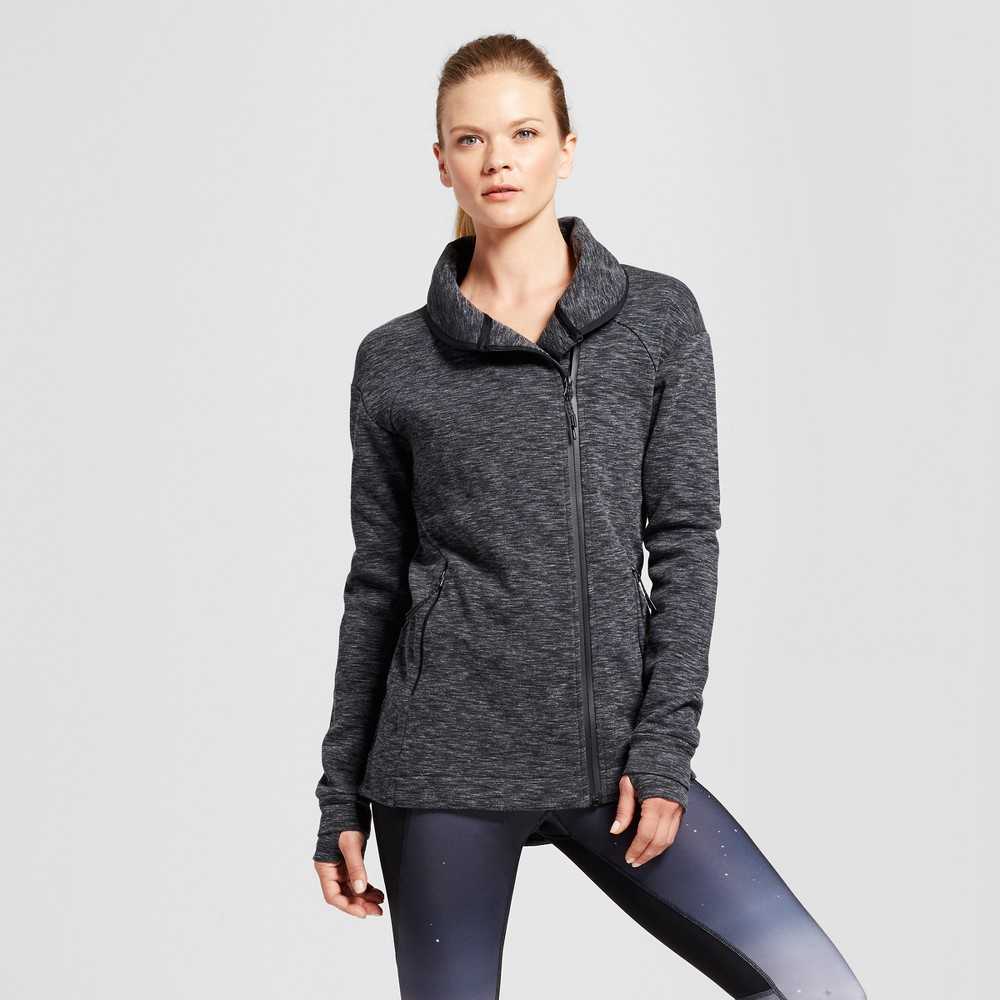 Women's Victory Fleece Full Zip Jacket - C9 Champion Dark Heather Gray XS, Black Heather