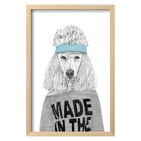 """80's Dog By Balazs Solti Framed Wall Art Poster Print 15""""x21"""" - Art.com - image 1 of 3"""