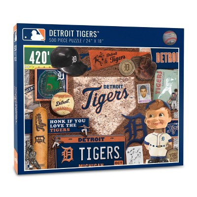MLB Detroit Tigers 500pc Retro Series Puzzle