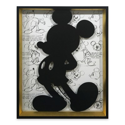 Disney Mickey Mouse 14 x18  Silhouette Wall Décor