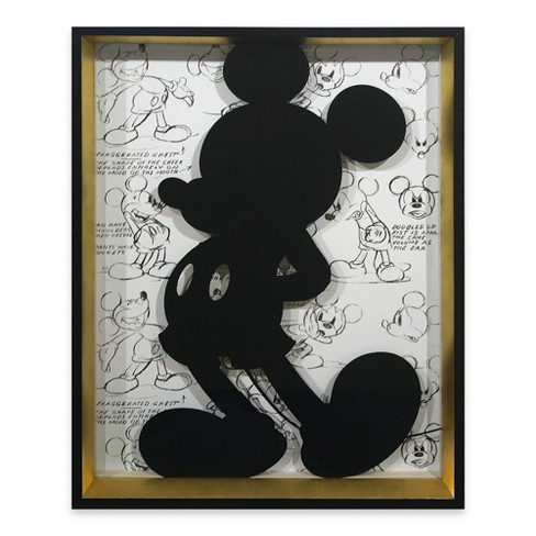 "Mickey Mouse & Friends 14""x18"" Silhouette Wall Decor - image 1 of 3"