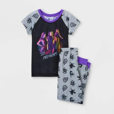 Girls' Descendants So Not Ordinary 2pc Pajama Set - Gray