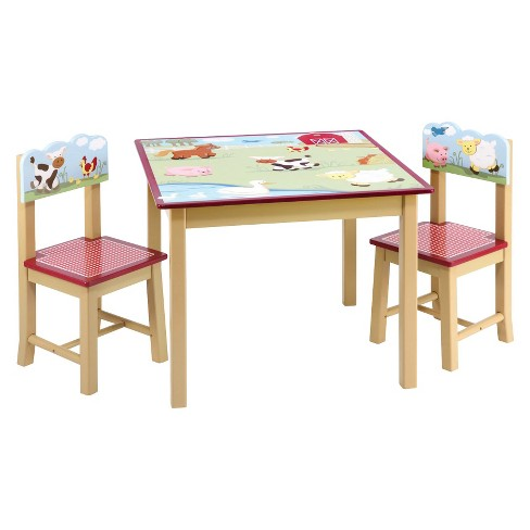 Guidecraft Farm Friends Table and Chairs Set - image 1 of 3