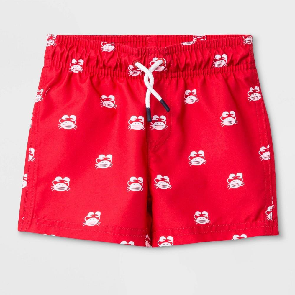 478ffc2818 Baby Boys Crab Swim Trunks Cat Jack Red 12M
