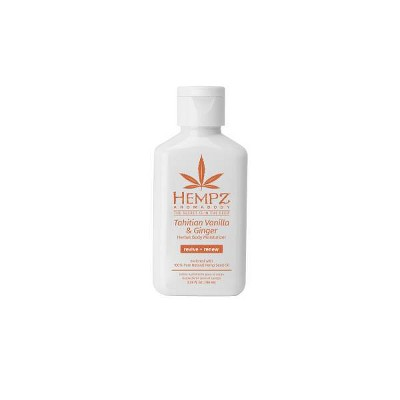 Hempz Herbal Body Moisturizer - Tahitian Vanilla and Ginger - 2.25 fl oz