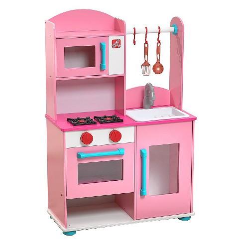 Step2 Pink Midtown Modern Wood Kitchen