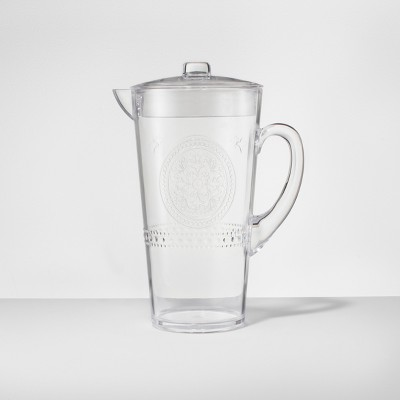 Plastic Beverage Pitcher 66oz Clear - Opalhouse™
