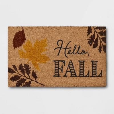 "1'6""x2'6"" Hello Fall Harvest Doormat Brown - Threshold™"