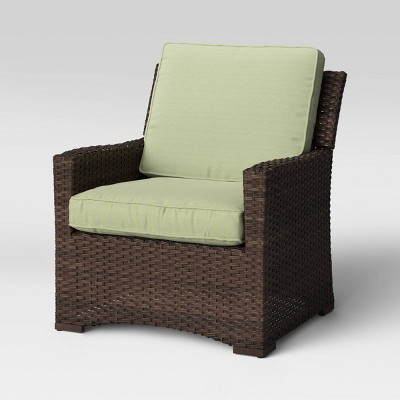 Halsted Wicker Patio Club Chair - Sage - Threshold™