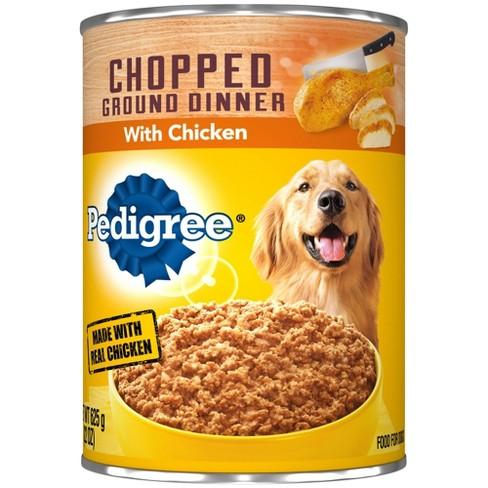 Pedigree Chopped Chicken Meaty Ground Dinner Wet Dog Food - 22oz - image 1 of 3