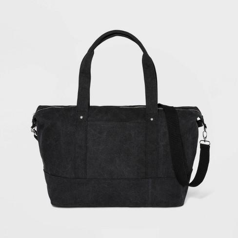 Zip Closure Weekender Bag - Wild Fable™ Black - image 1 of 3