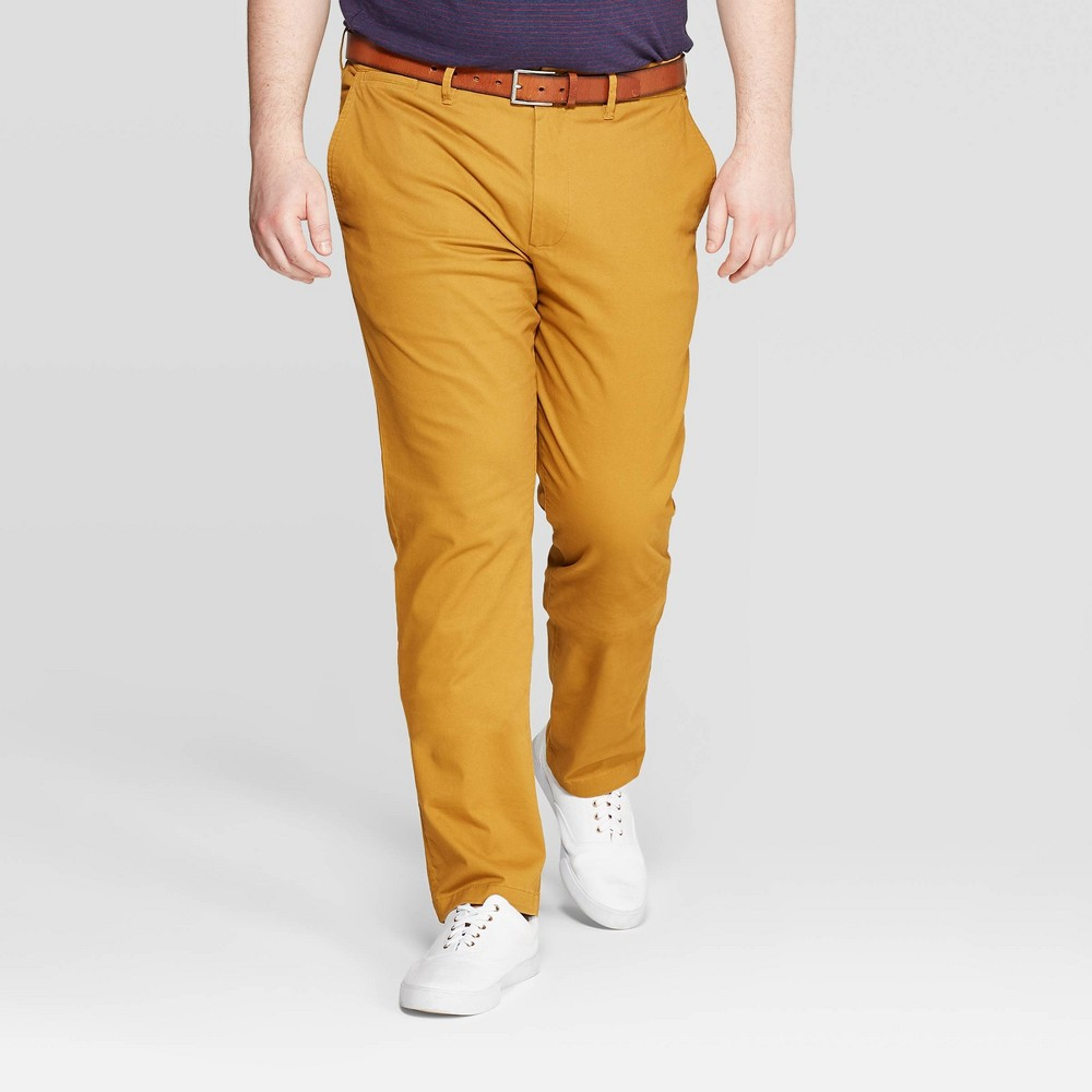 Men's Slim Fit Hennepin Chino Pants - Goodfellow & Co Brown 42x30, Men's was $22.99 now $16.09 (30.0% off)