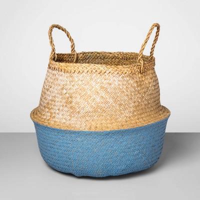 Decorative Pop Up Belly Basket Natural Blue 12.6 x15.75  - Opalhouse™