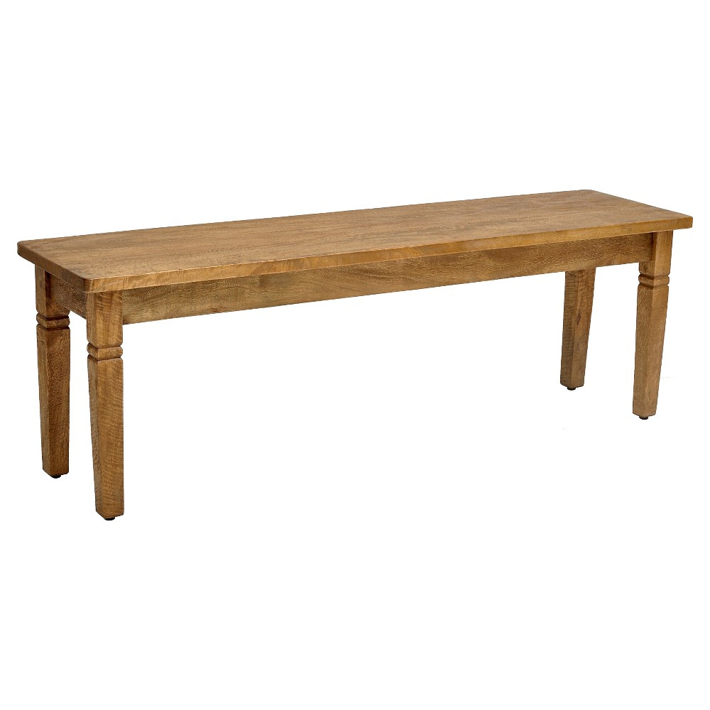 Sedona Bench - Wood/Rustic Mango - Casual Elements, Brown