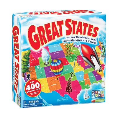 Game Zone Great States Geography Board Game
