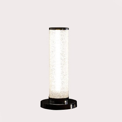"13"" Novelty Metal Tube Table Lamp (Includes LED Light Bulb) Black - Ore International"