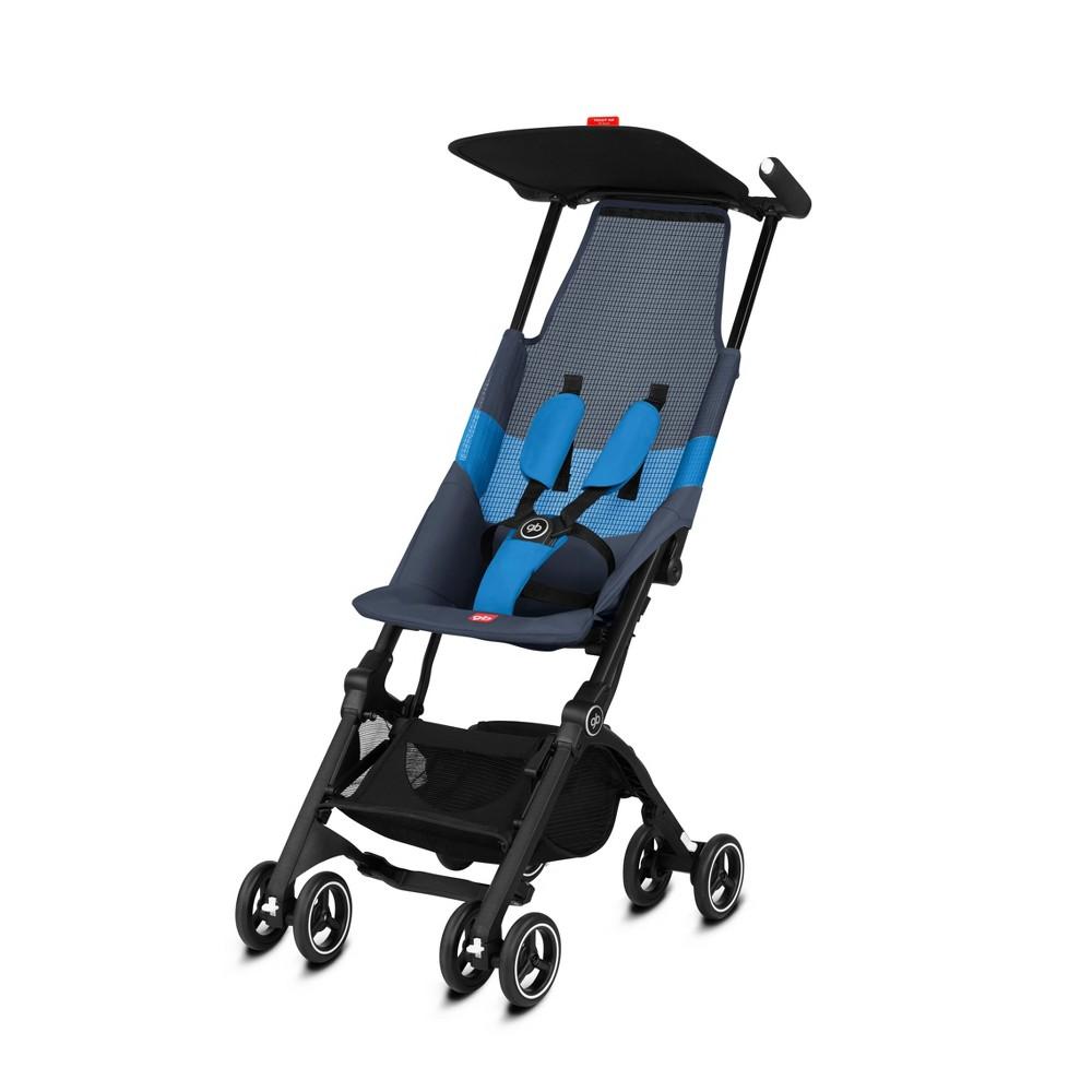 Image of Goodbaby Pockit + All Terrain Velvet Stroller - Night Blue, Black Blue
