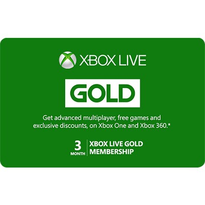 Xbox Live 3 Month Gold Membership (Digital)