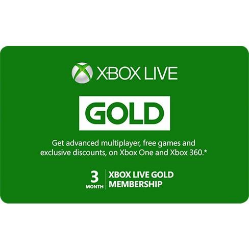 Xbox Live 3 Month Gold Membership (Digital)