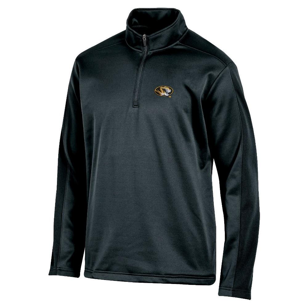 NCAA Men's Victory Call Long Sleeve 1/4 Zip Poly Impact Fleece Shirt Missouri Tigers - S, Multicolored