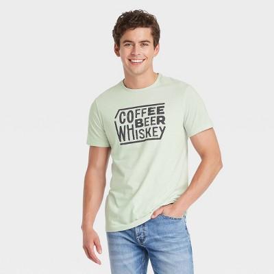 Men's Regular Fit Short Sleeve Crewneck T-Shirt - Goodfellow & Co™ Mint Green/Letters