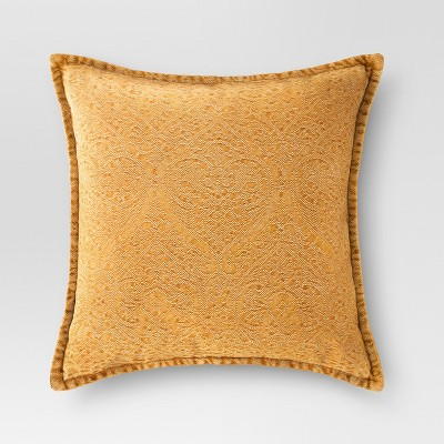 Gold Stonewashed Square Throw Pillow - Threshold™