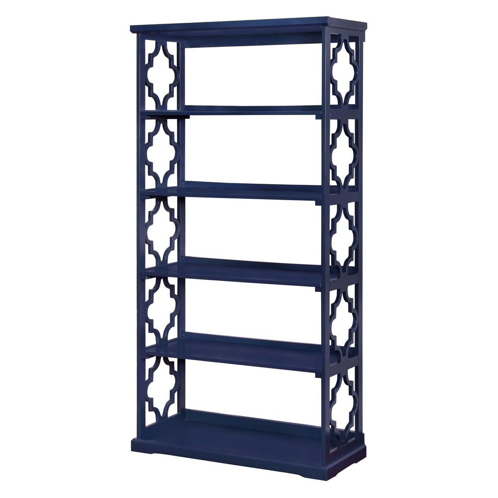 72.25 Iohomes Estella 5 Shelf Bookcase Blue - Homes: Inside + Out, Navy Blue