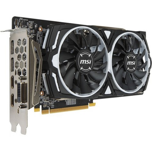 MSI Armor RX 580 Graphics Card  -  8GB 256-bit GDDR5 - Airflow Control Technology - AMD Radeon RX 580 1.37 GHz - Ultra-high resolution - image 1 of 4