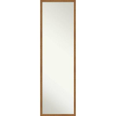 "15"" x 49"" Carlisle Narrow Framed Full Length on the Door Mirror - Amanti Art"