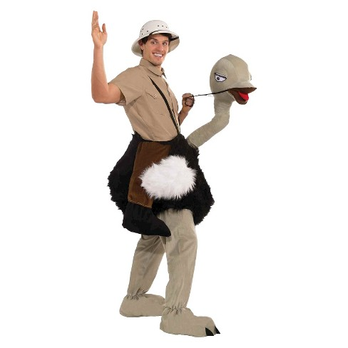 Adult Ride On Ostrich Mascot Costume OSFM - image 1 of 1