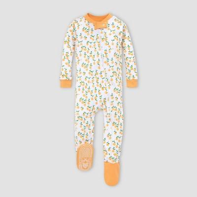 Burt's Bees Baby® Baby Girls' Footed Pajama - Orange 12M