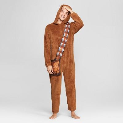 Men's Star Wars Chewbacca Union Suit - Brown L