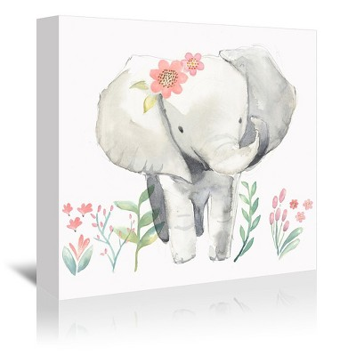 Americanflat Baby Elephant by PI Creative Art Wrapped Canvas