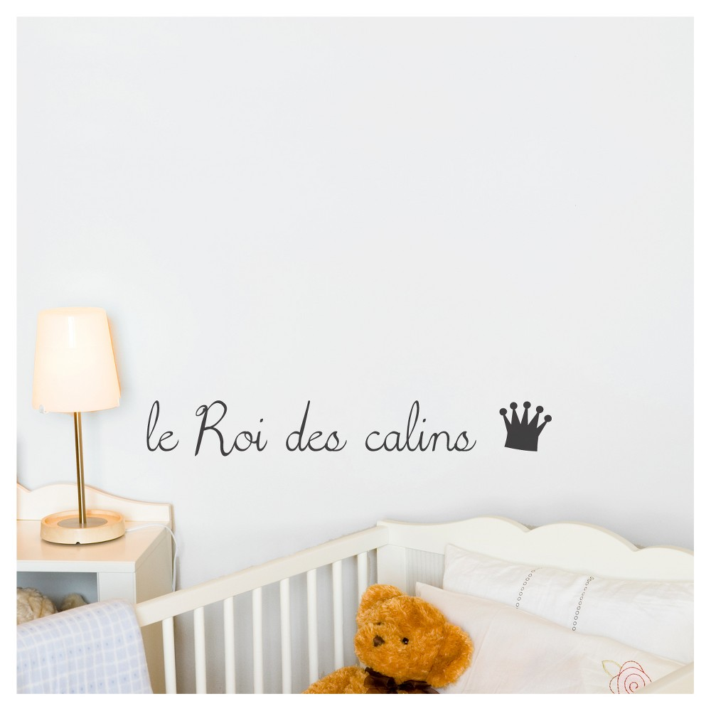 Le Roi/La Reine des Câlins Wall Decal - Black, Almost Black