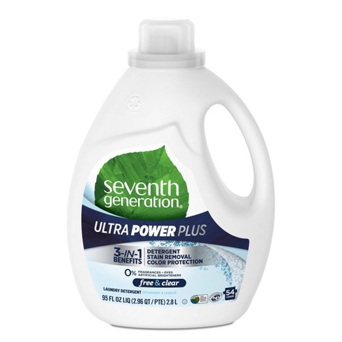 Seventh Generation Ultra Power Plus Free & Clear Laundry Detergent - 95oz
