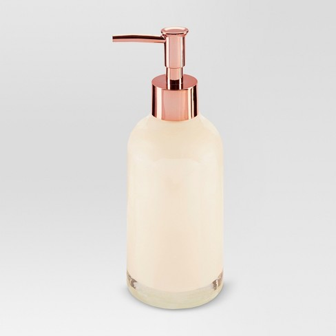Pearlized Soap/lotion Dispenser Medium Beige - Threshold™ - image 1 of 1