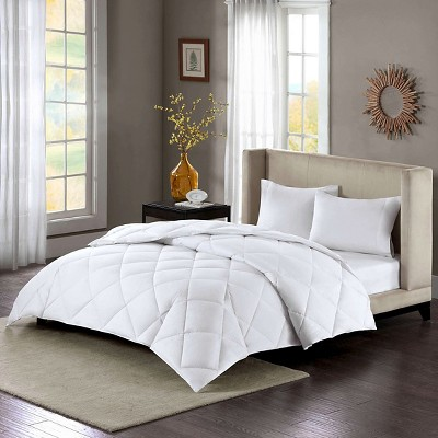 Cotton Sateen Down Alternative Comforter Level 3 Warmest 3M Thinsulate Maximum Warmth (Full/Queen) White