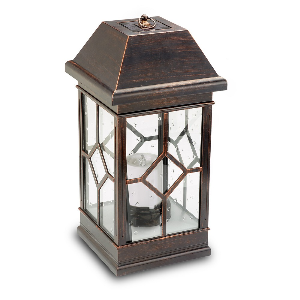 San Felipe Estate 22 Solar Led Outdoor Lantern - Smart Solar, Brown