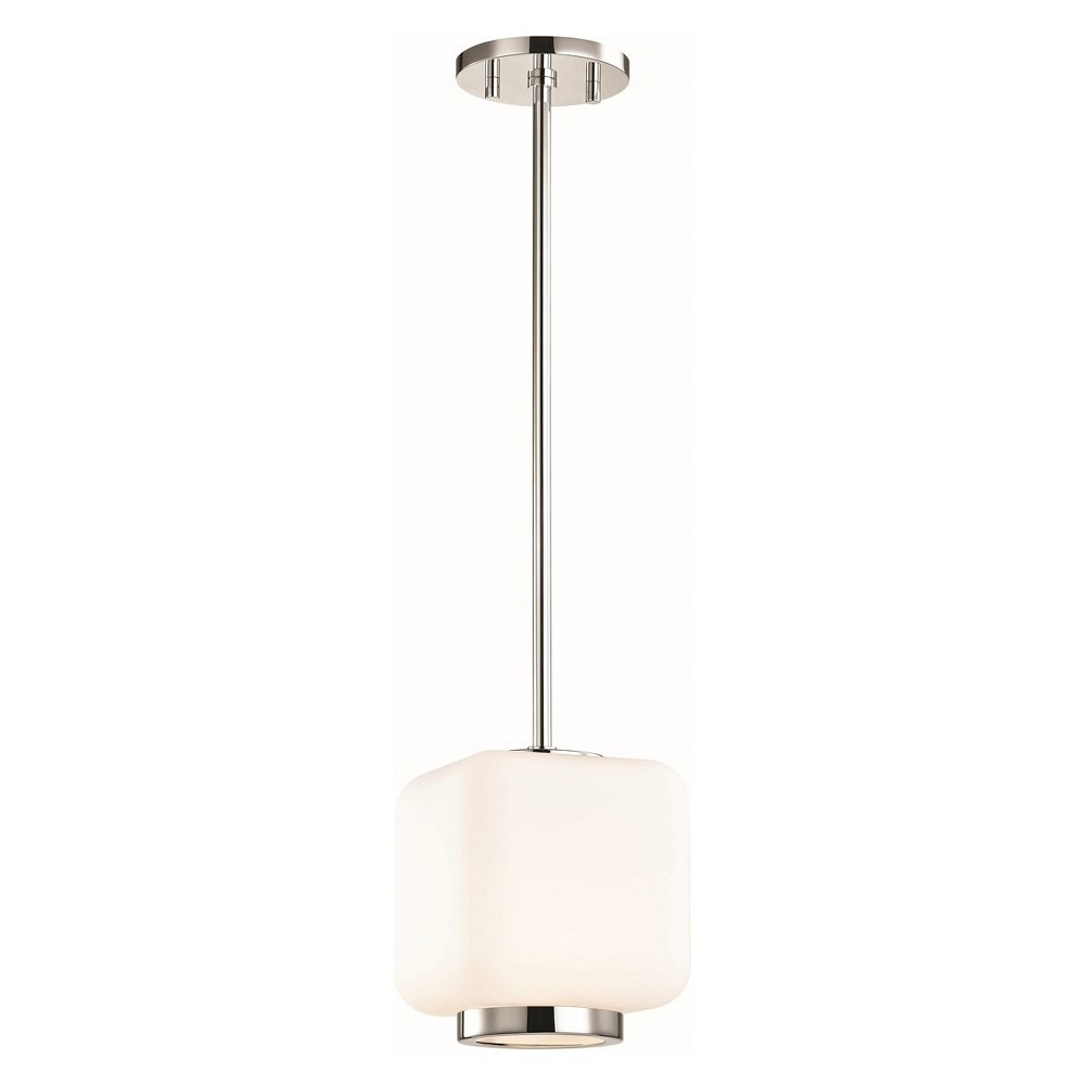 1pc Jenny Small Light Pendant Brushed Nickel - Mitzi by Hudson Valley
