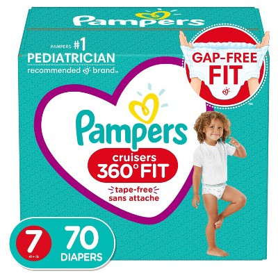 Pampers Cruisers 360 Diapers Enormous Pack - Size 7 - 70ct
