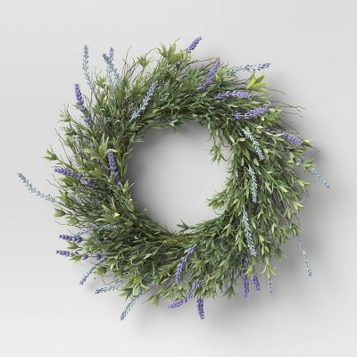 "22"" Artificial Lavender Wreath - Threshold™"