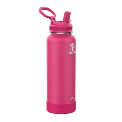 Takeya 40oz Actives Pickleball Insulated Stainless Steel Water Bottle with Sport Straw Lid